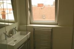 Detail instalace umývadla